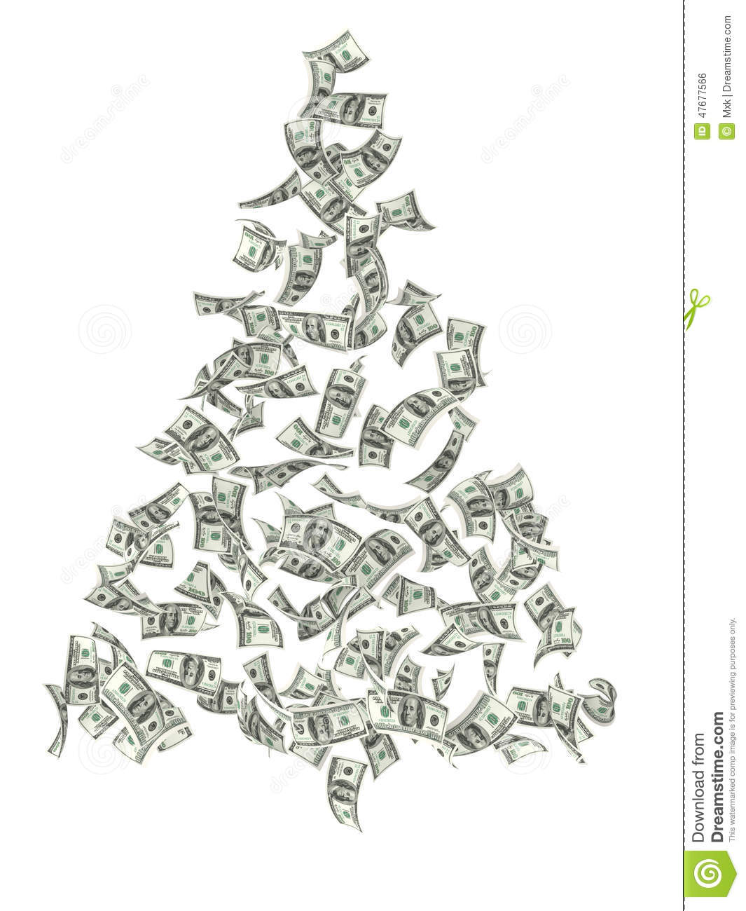 Christmas Tree Stock Photo Image Of Money Concept