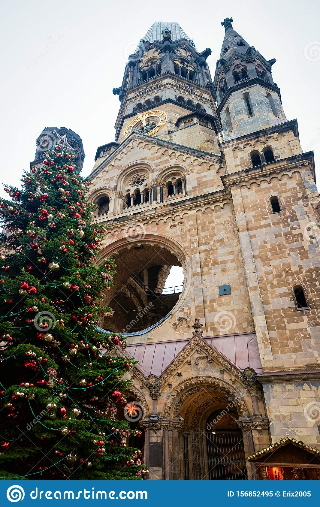 Christmas Tree With Decorations At Kaiser Wilhelm Memorial