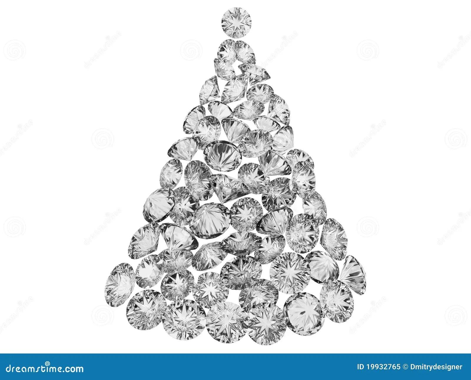 Christmas Tree From Diamonds Stock Image Image Of