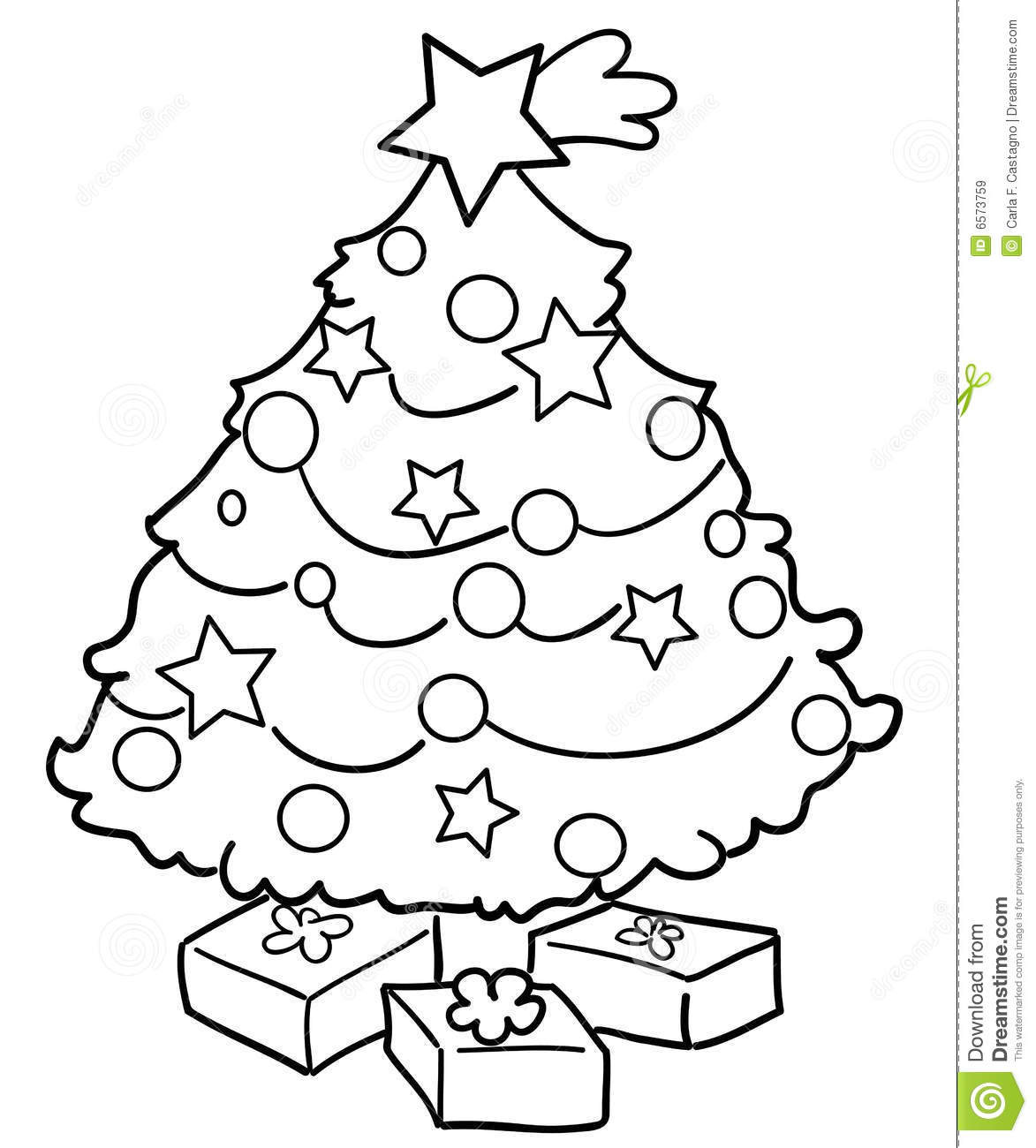 Christmas Tree With Ts Stock Vector Illustration Of