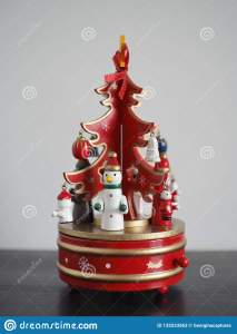 Christmas Tree Music Box Stock Image Image Of Background 132533563