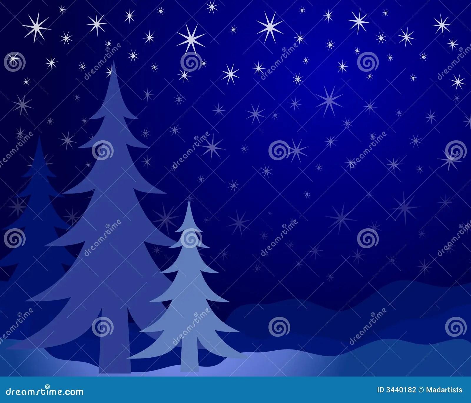 Christmas Tree Silhouette 2 Stock Photography Image 3440182