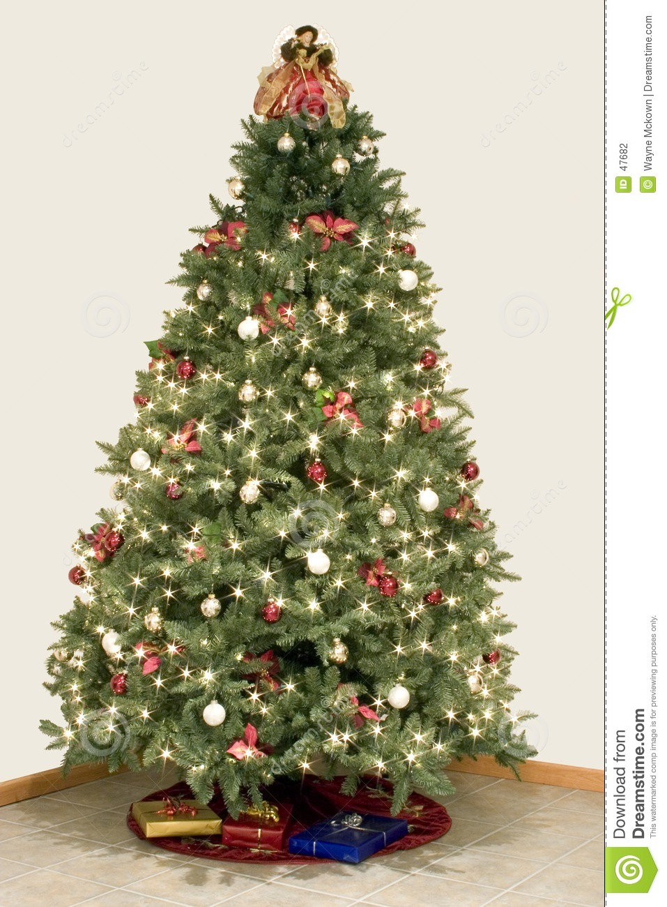 Christmas Tree Star Effect Stock Photo Image Of Golden