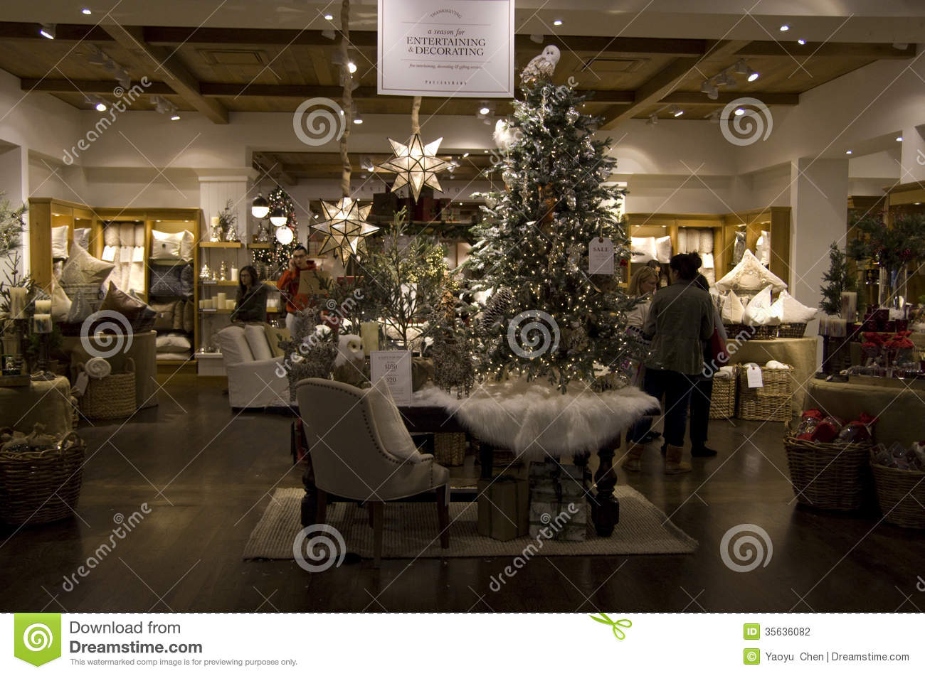 Christmas Trees Home Goods Store Editorial Photography Image Of Furniture Christmas 35636082