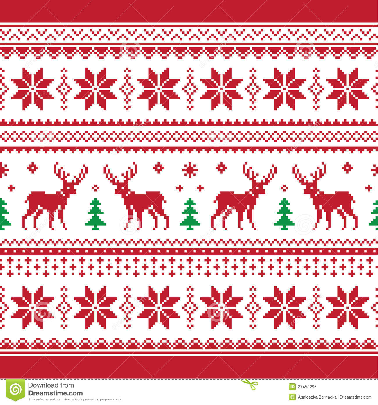 Christmas And Winter Knitted Seamless Pattern Or C Stock Illustration