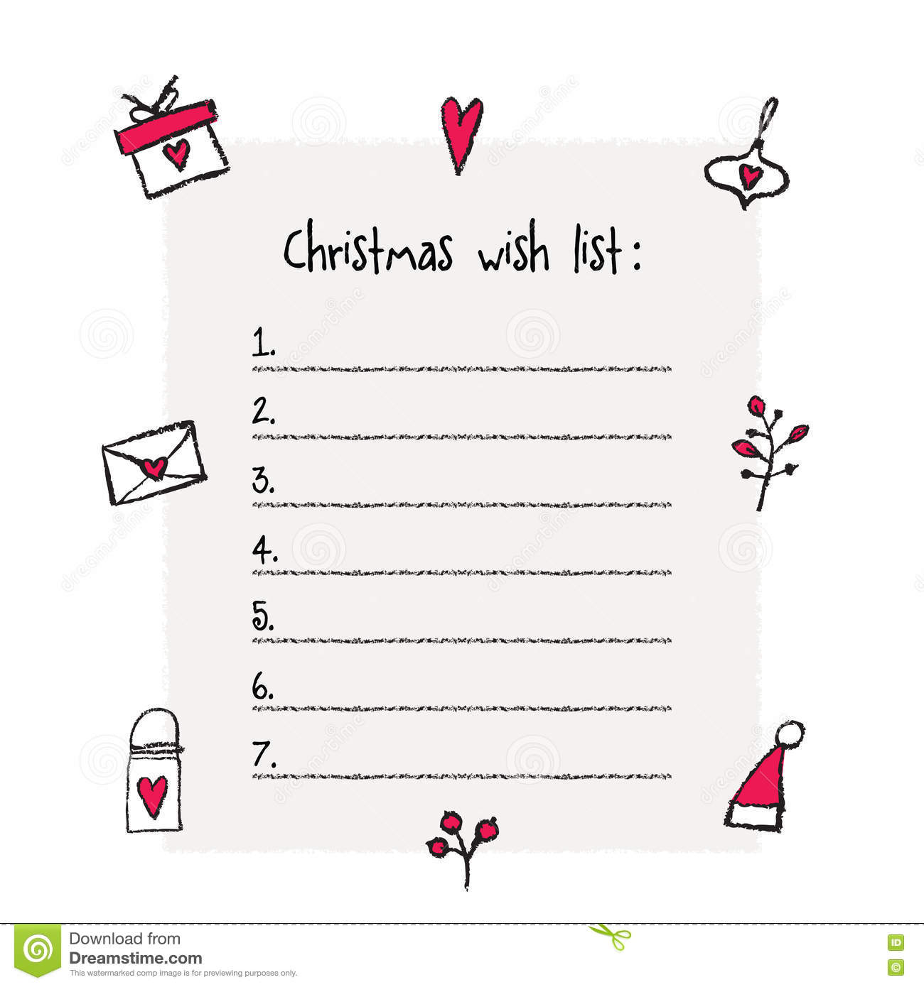 Christmas Wish List Template use of event gift gift christmas – Free Printable Christmas Wish List Template