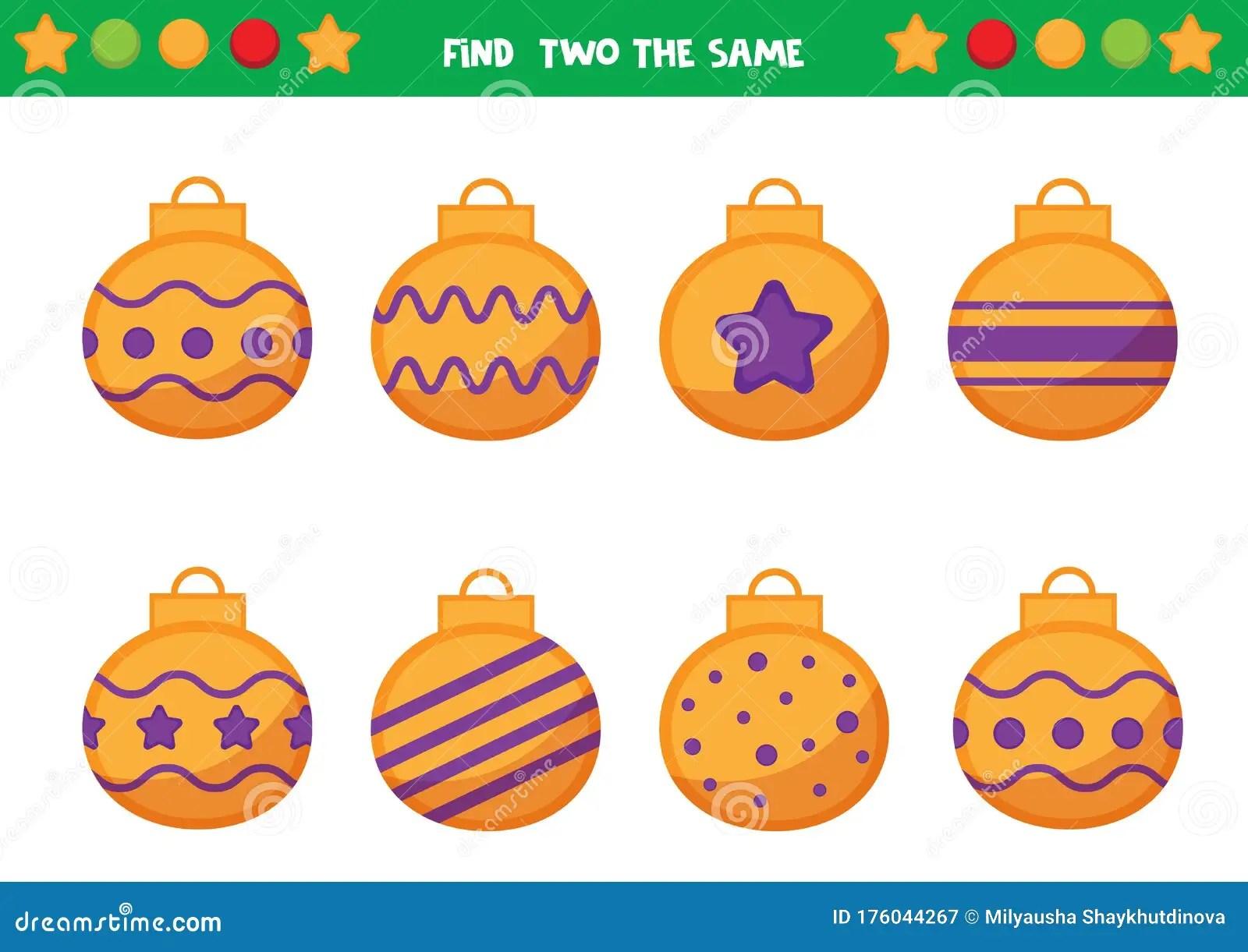 Christmas Worksheet For Preschool Children Find Two The