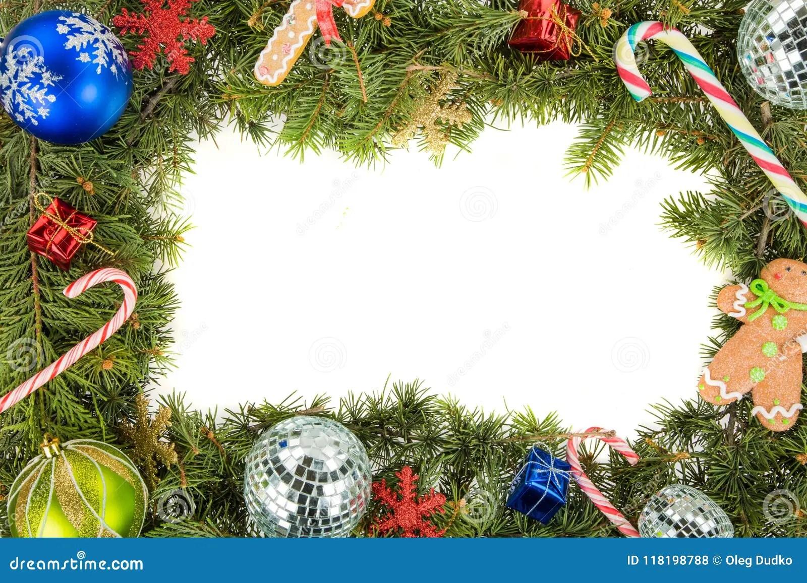 Christmas Wreath Border Stock Photo Image Of T