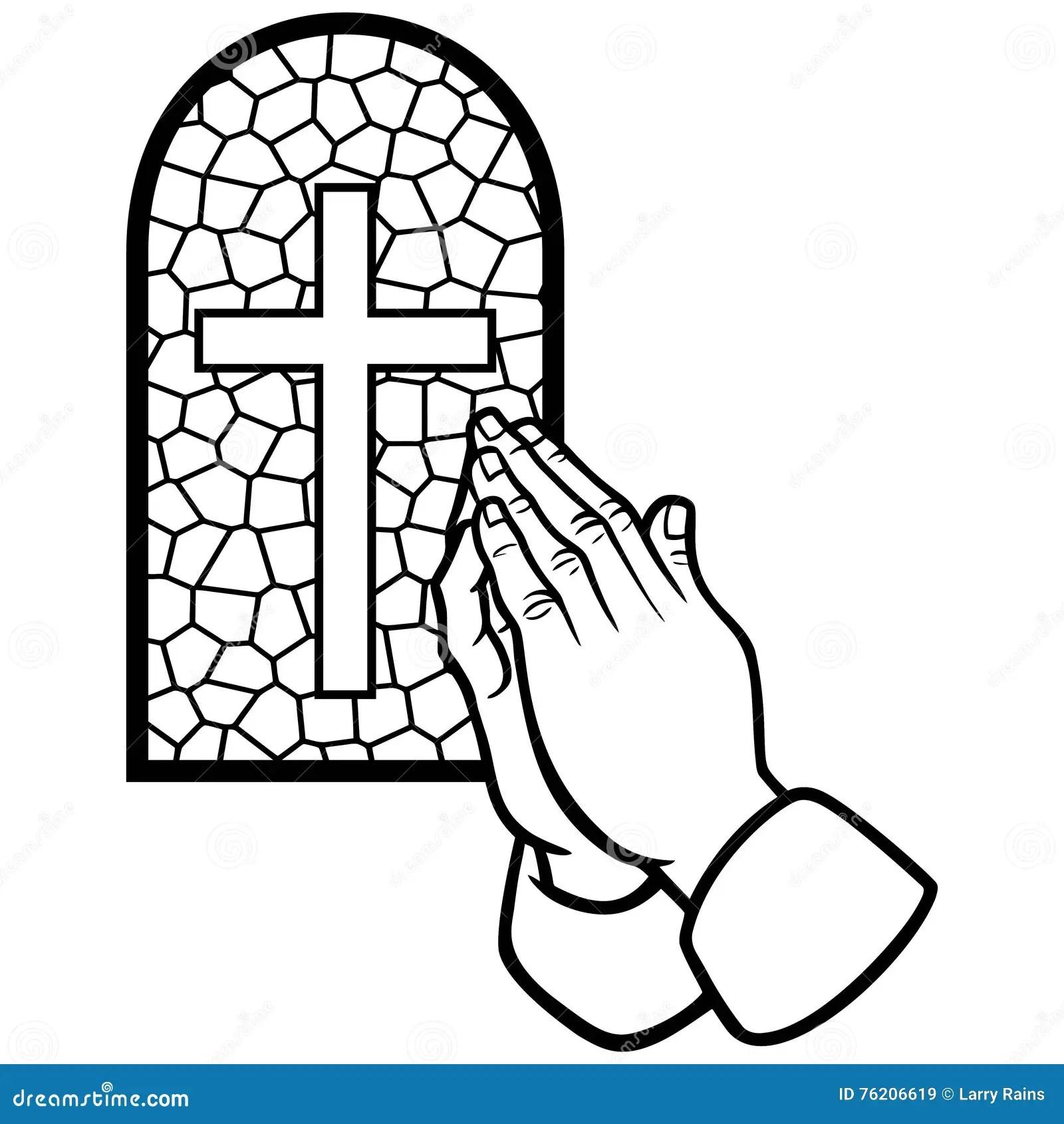 Church Prayer Illustration Stock Vector Illustration Of