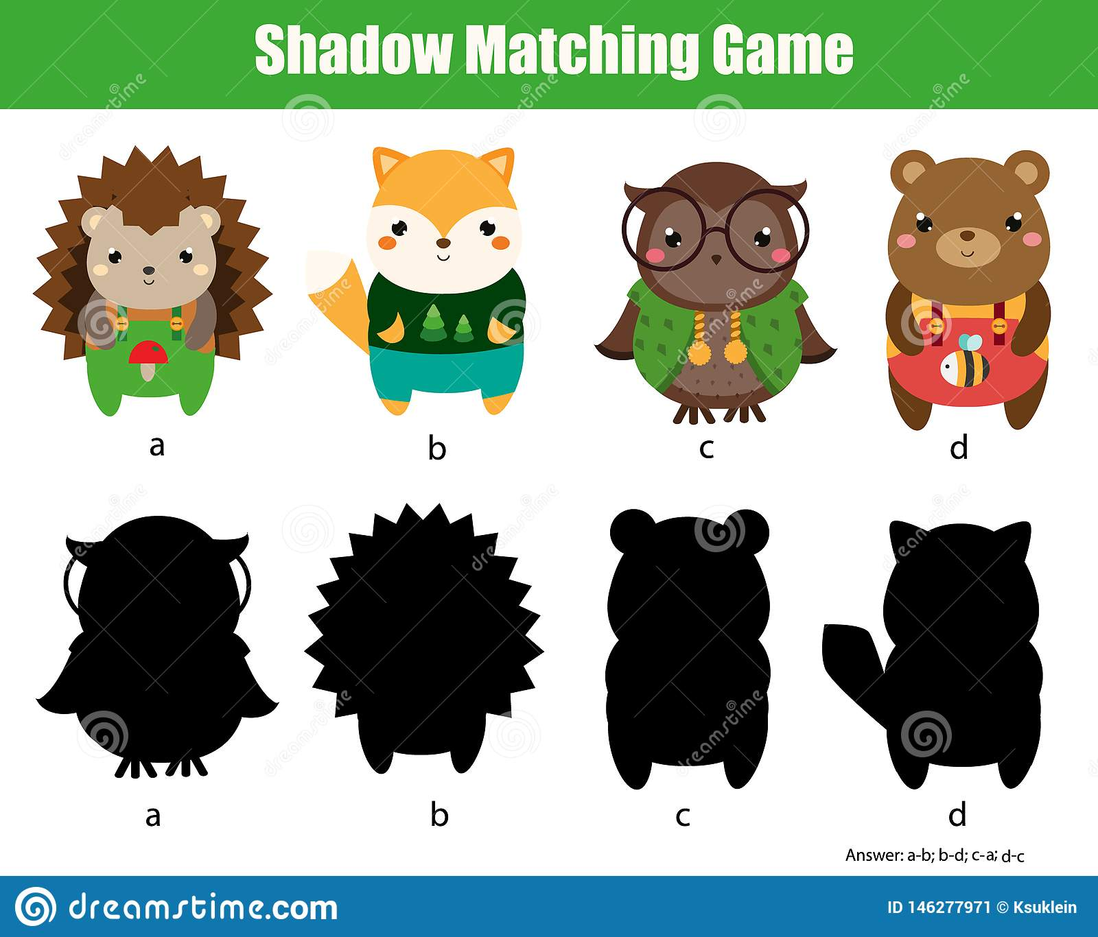 Shadow Matching Game Find Silhouettes Activity For