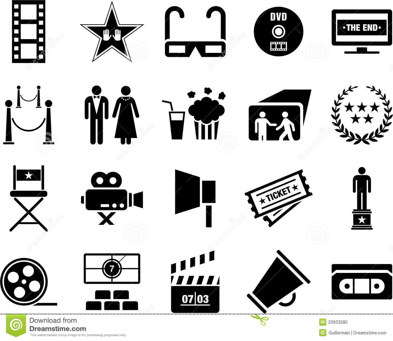 Cinema Icons Stock Vector Illustration Of Dress Image