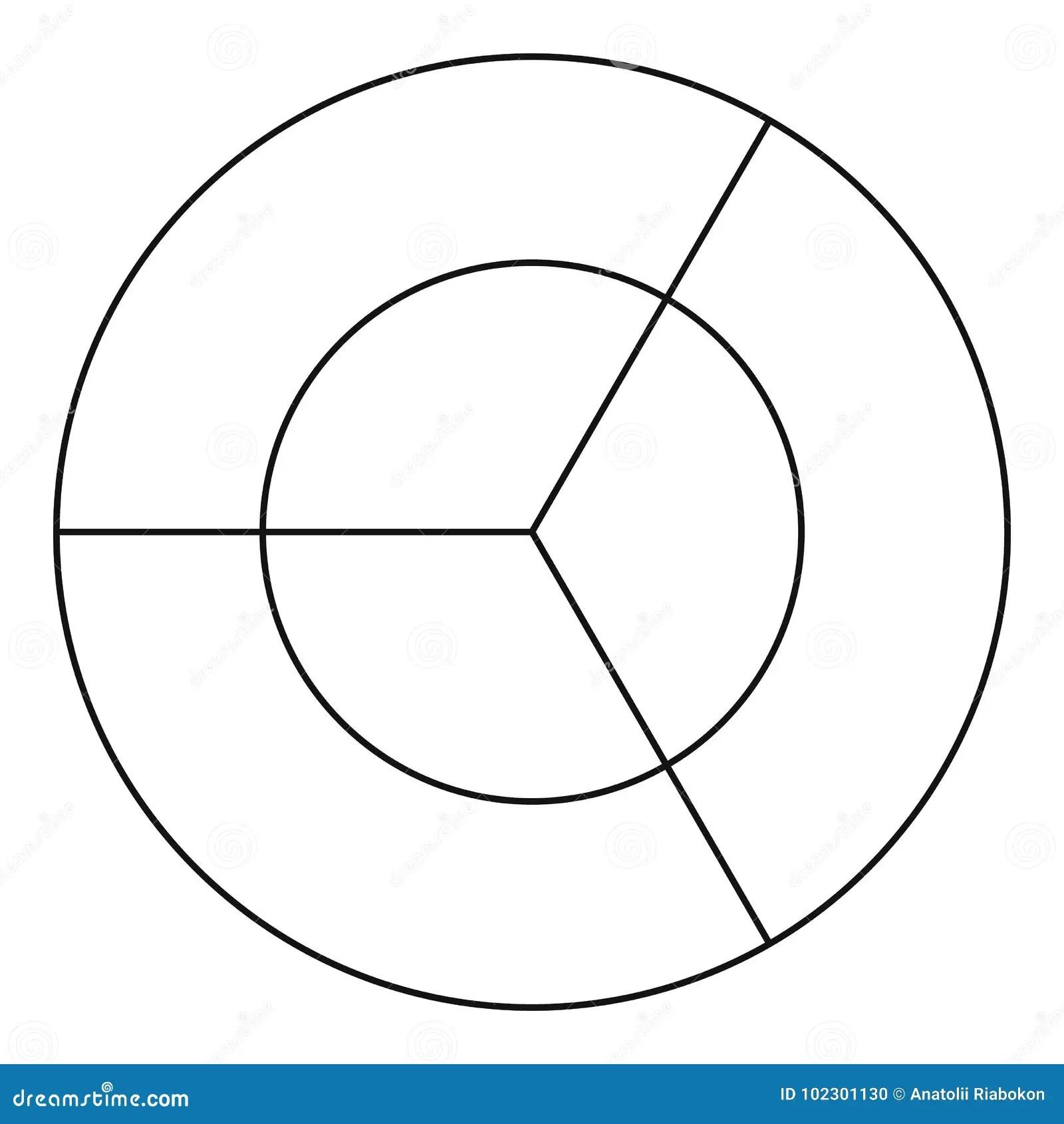 Circle Diagram Icon Vector Thin Line Stock Vector