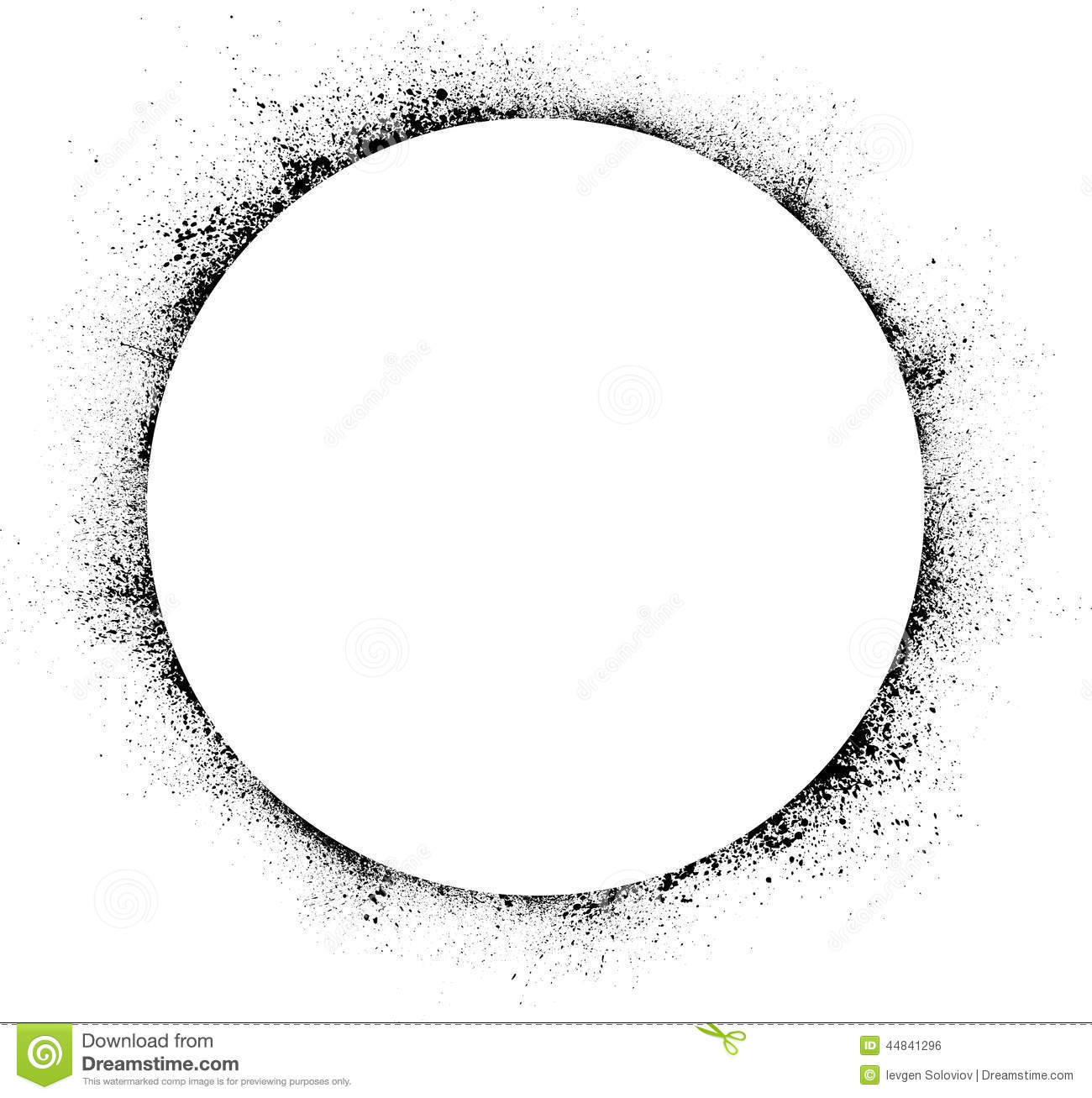 Circle Ink Blots Background Stock Vector