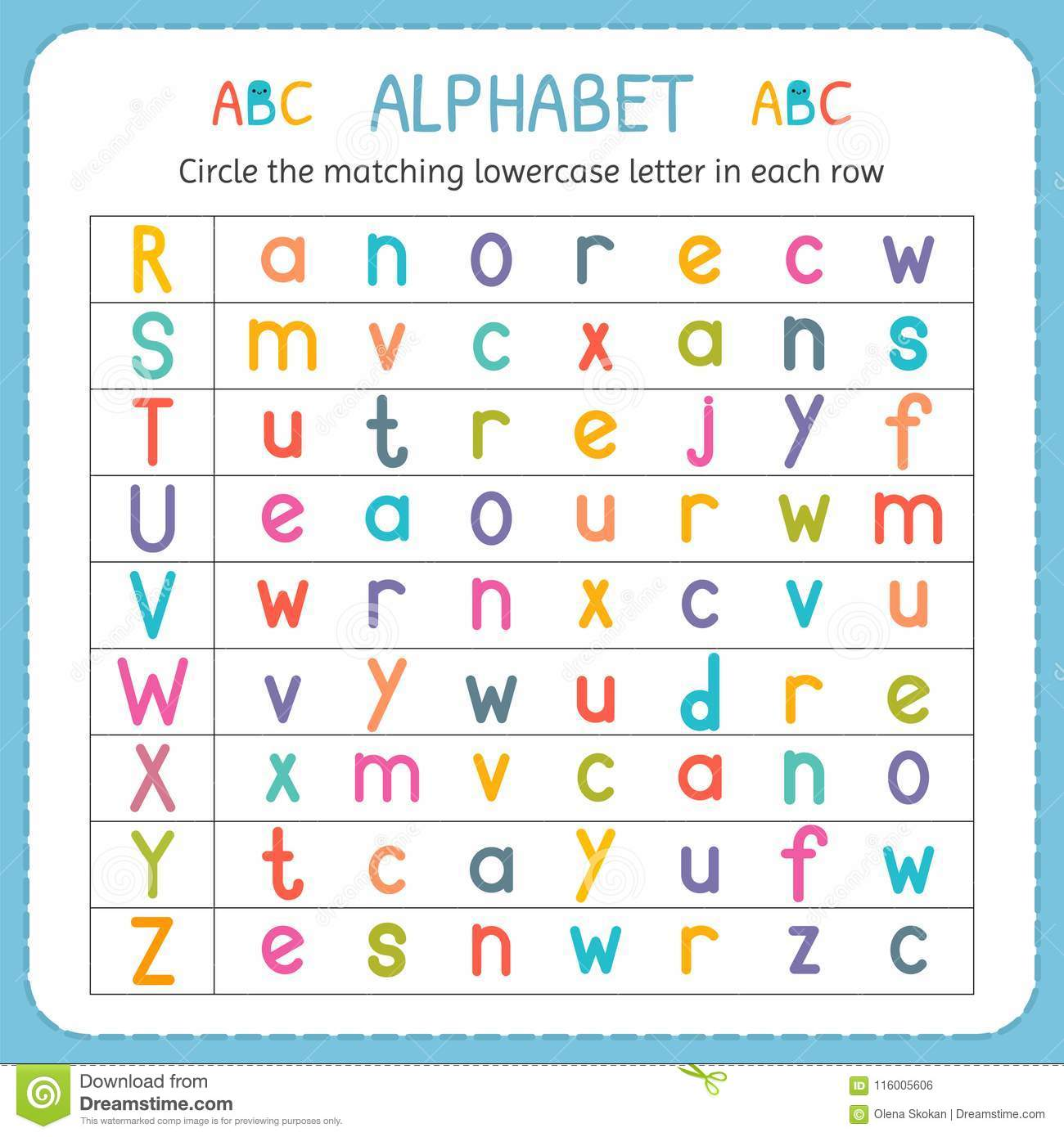 Circle Letter A Worksheet For Preschool