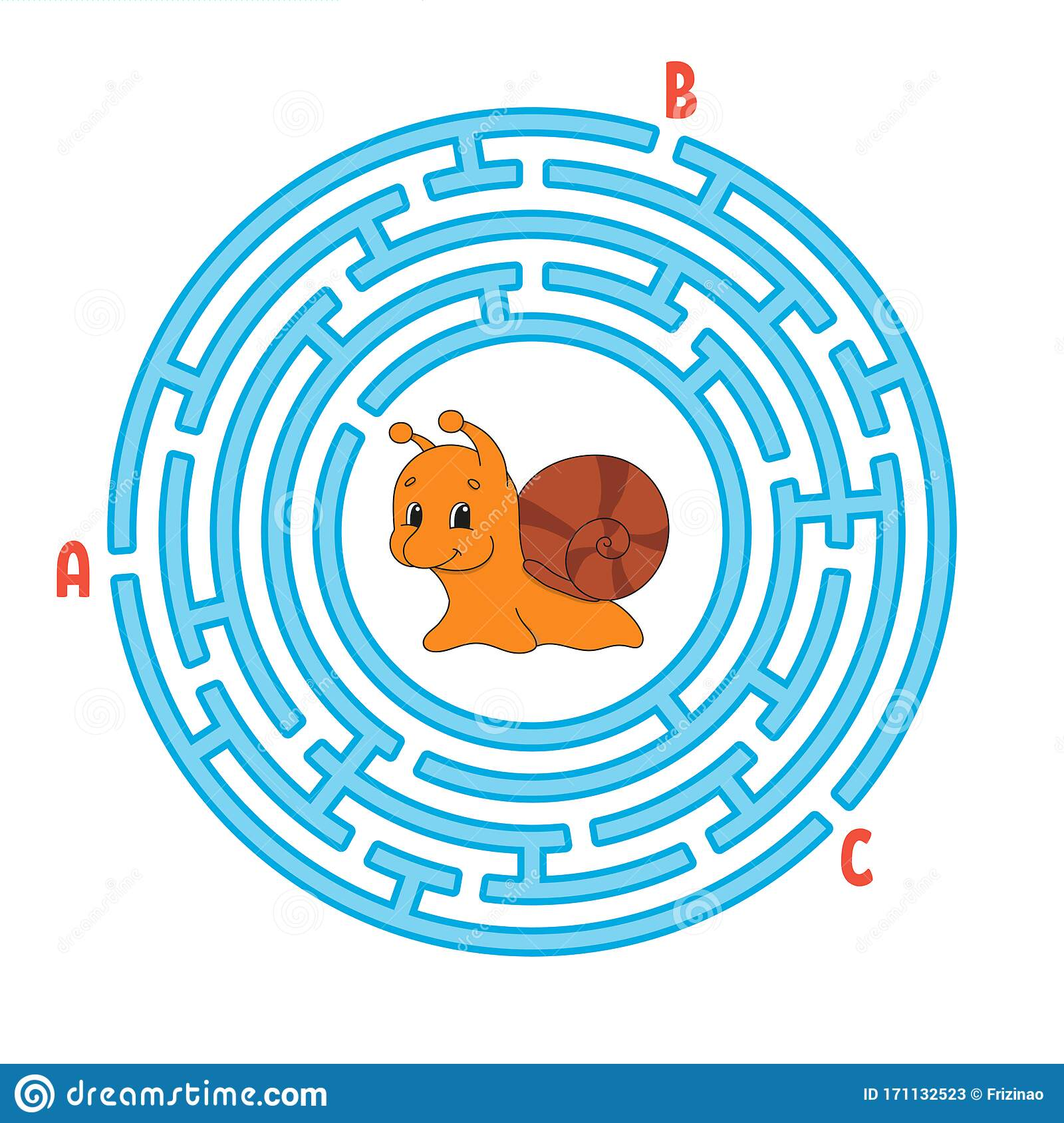 Circle Maze Game For Kids Puzzle For Children Round