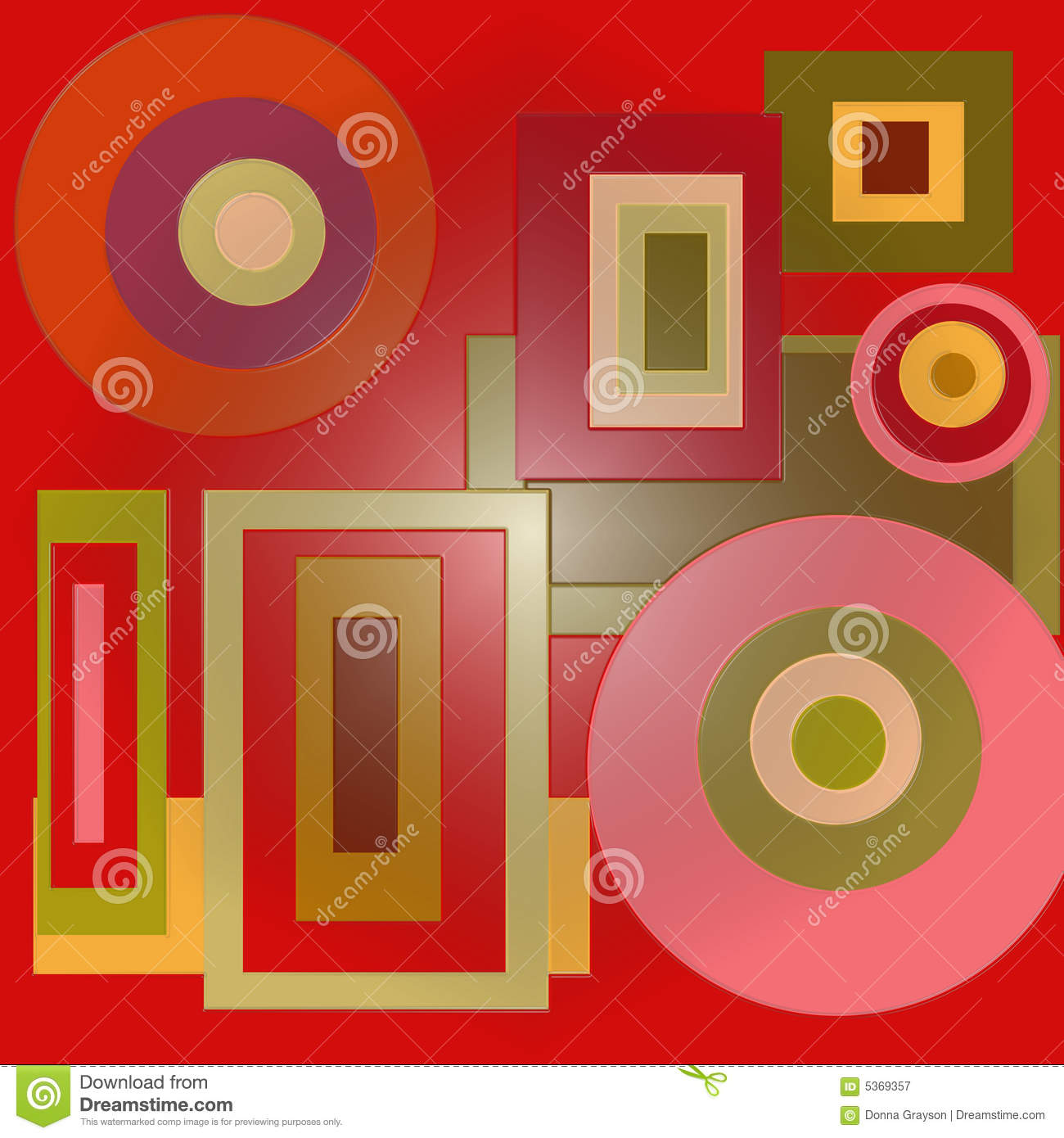 Circles And Squares Stock Illustration Illustration Of