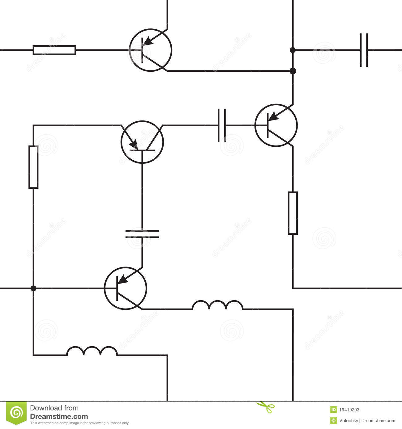 Circuit Stock Vector Illustration Of Electric Inductor