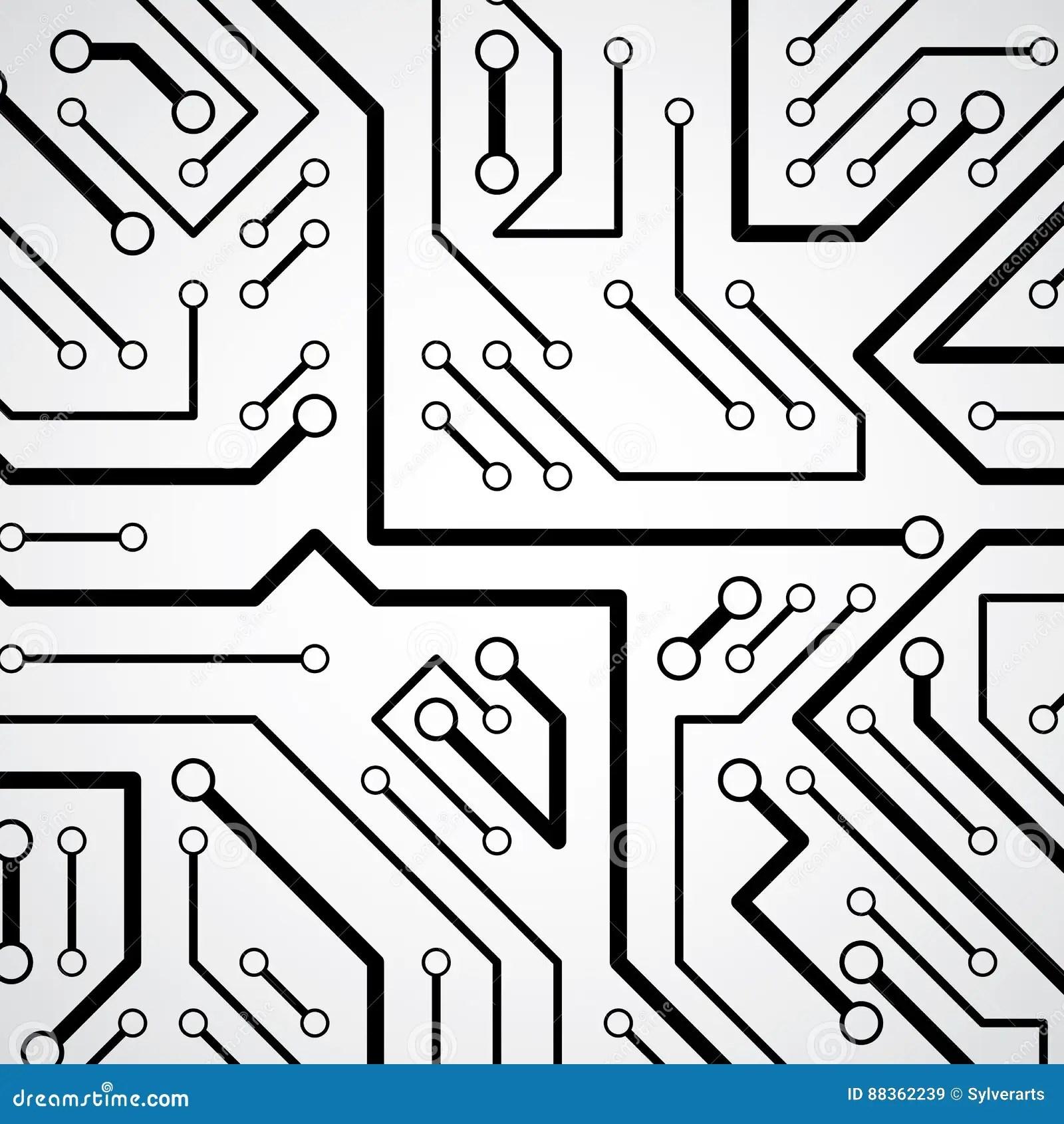 Circuit Board Futuristic Cybernetic Texture Information