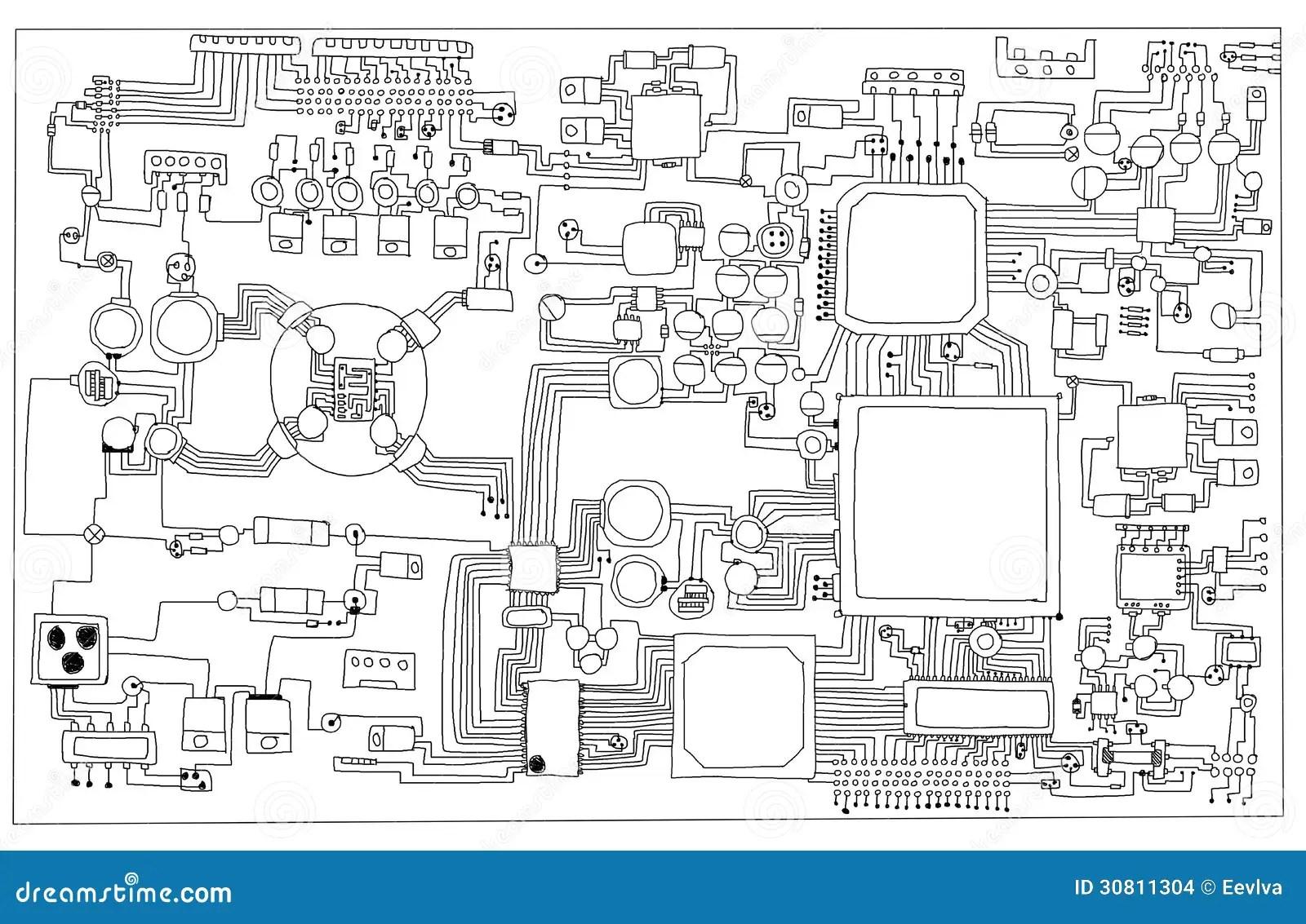Circuit Board Stock Illustration Illustration Of