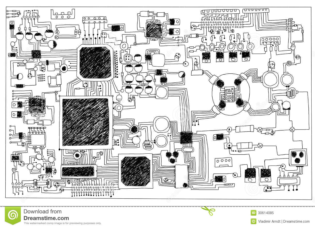 Circuit Board. Royalty Free Stock Photo