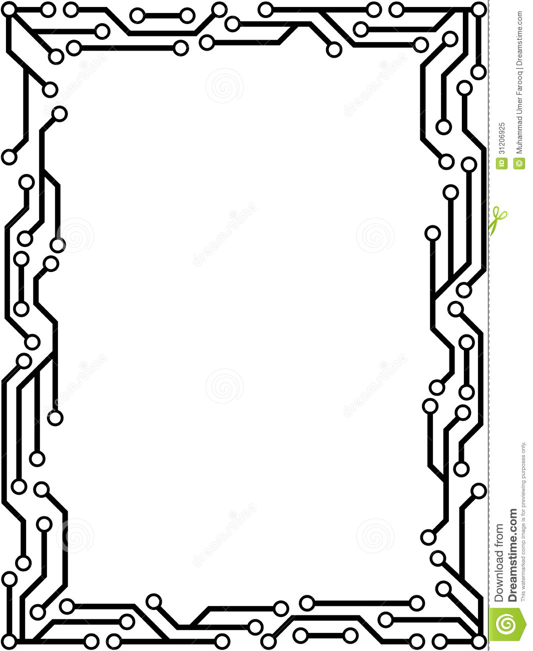 Circuit Frame Stock Vector Illustration Of Tech Digital