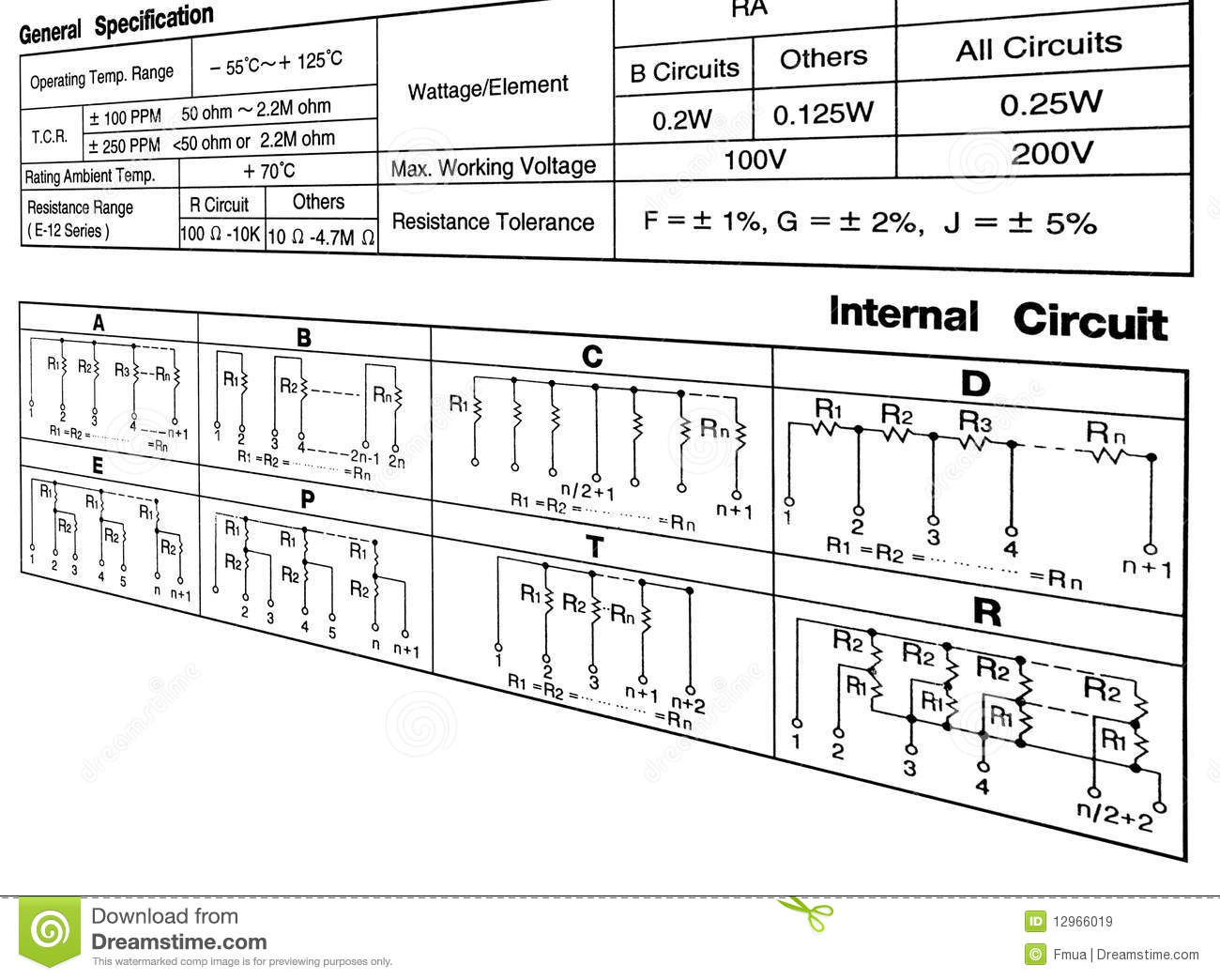 Circuit Specification Concept On White Stock Illustration