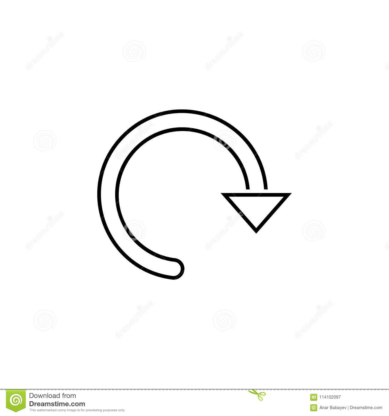 Circular Arrow Icon Thin Line Icon For Website Design And