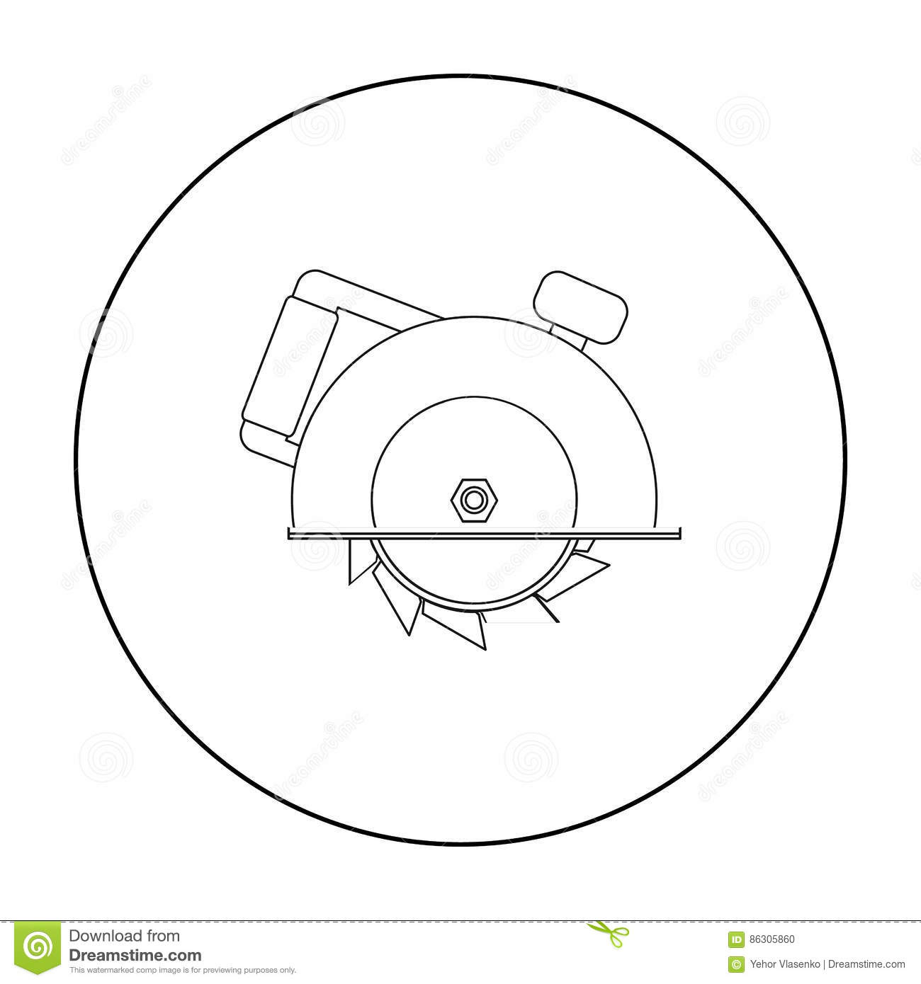 Saw Icon Vector Logo On White Background Vector