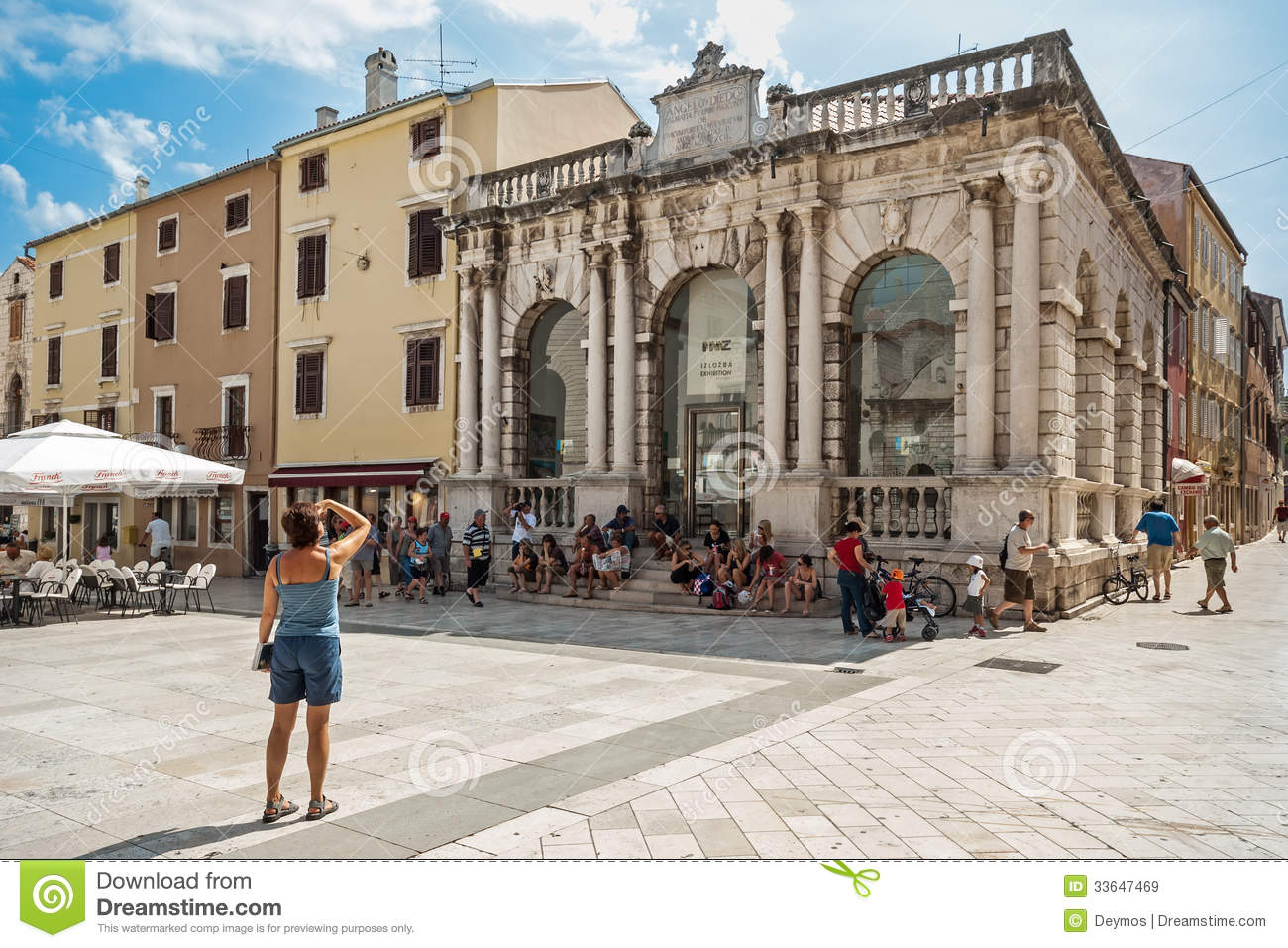 City Lodge On Peoples Square In Zadar Croatia Editorial