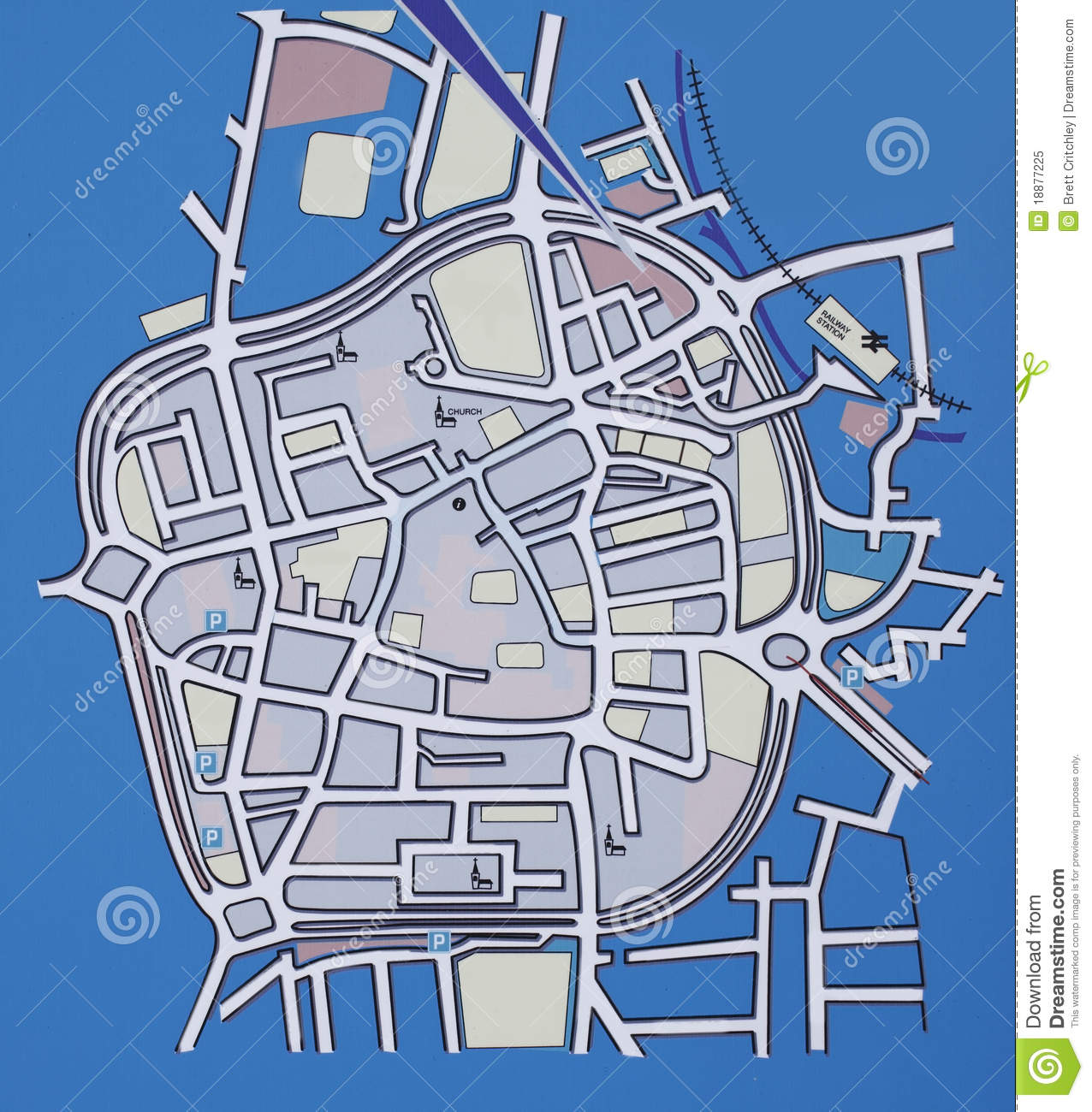 City Map Stock Image Image Of Blue City Town Village