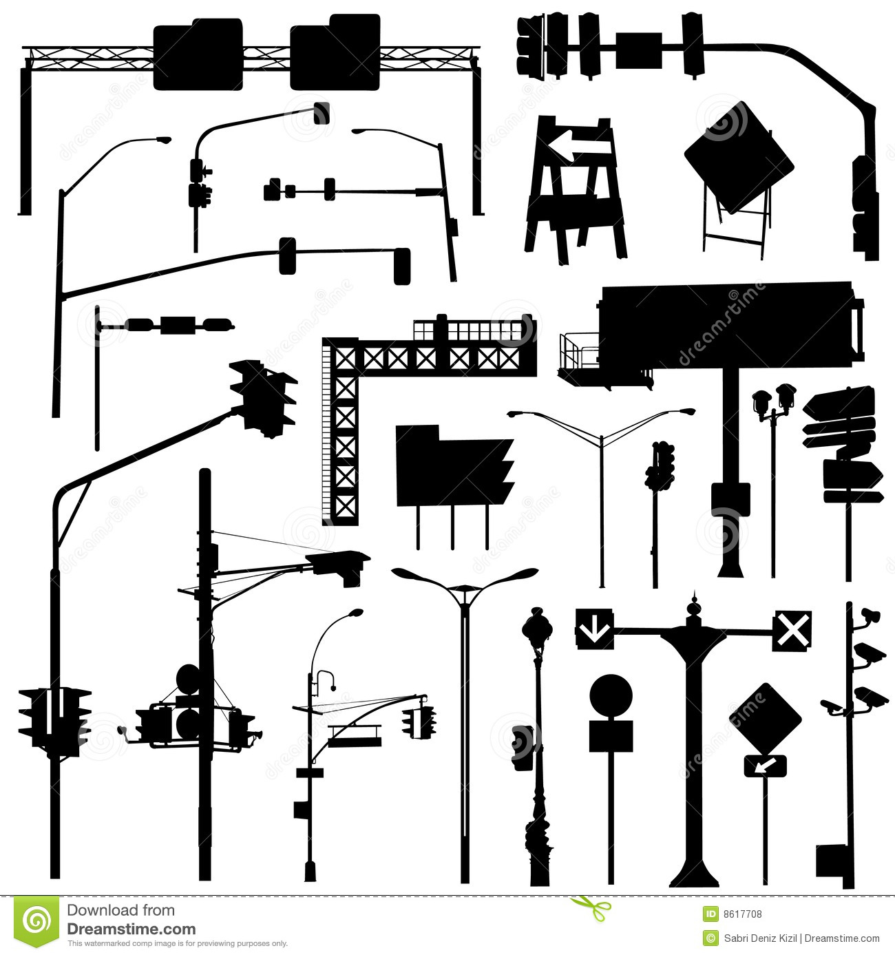 City Objects Vector Stock Vector Illustration Of Fire