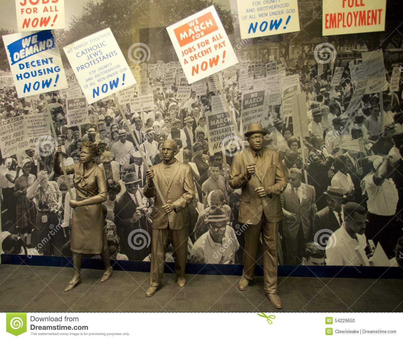 Civil Rights Protesters Exhibit Inside The National Civil