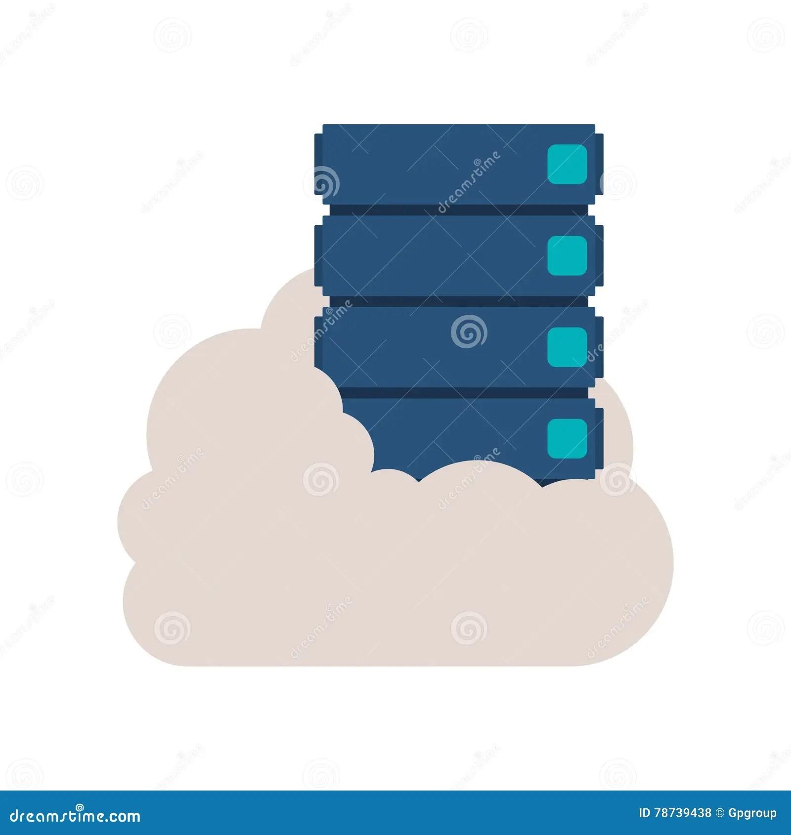 classeur dans l illustration de vecteur de nuage
