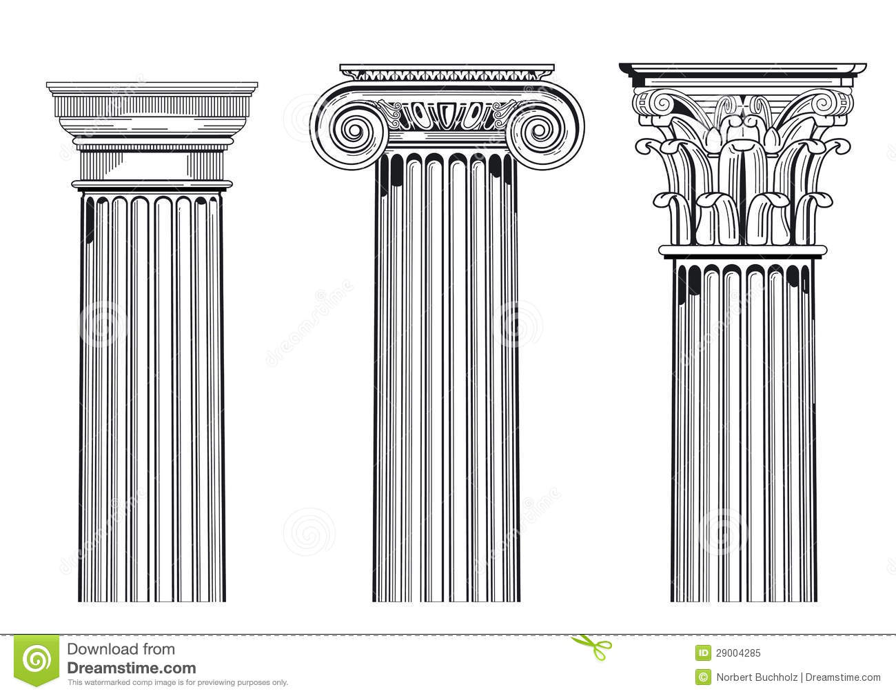Classic Architectural Columns Stock Vector
