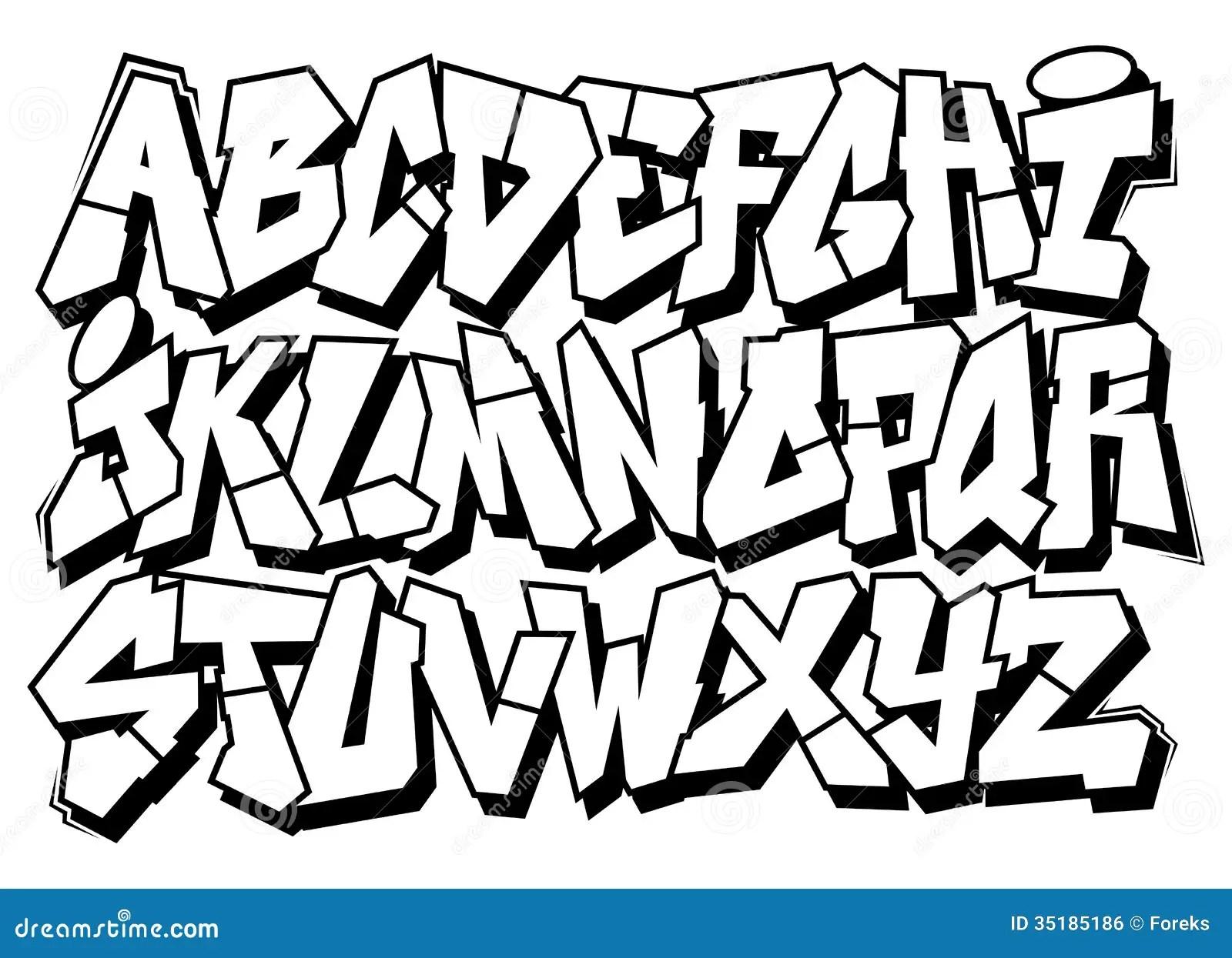 Classic Street Art Graffiti Font Type Alphabet Royalty
