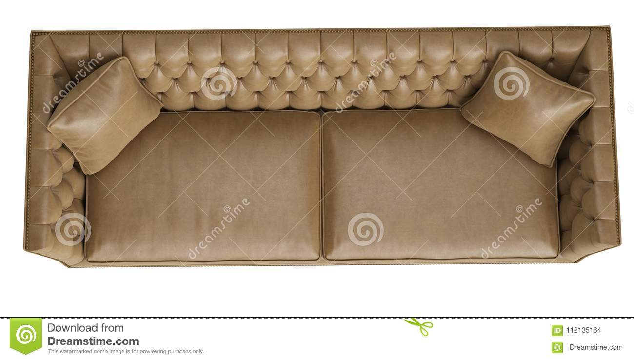 https www dreamstime com classic tufted sofa isolated white background digital illustration d rendering top view classic tufted sofa isolated white image112135164