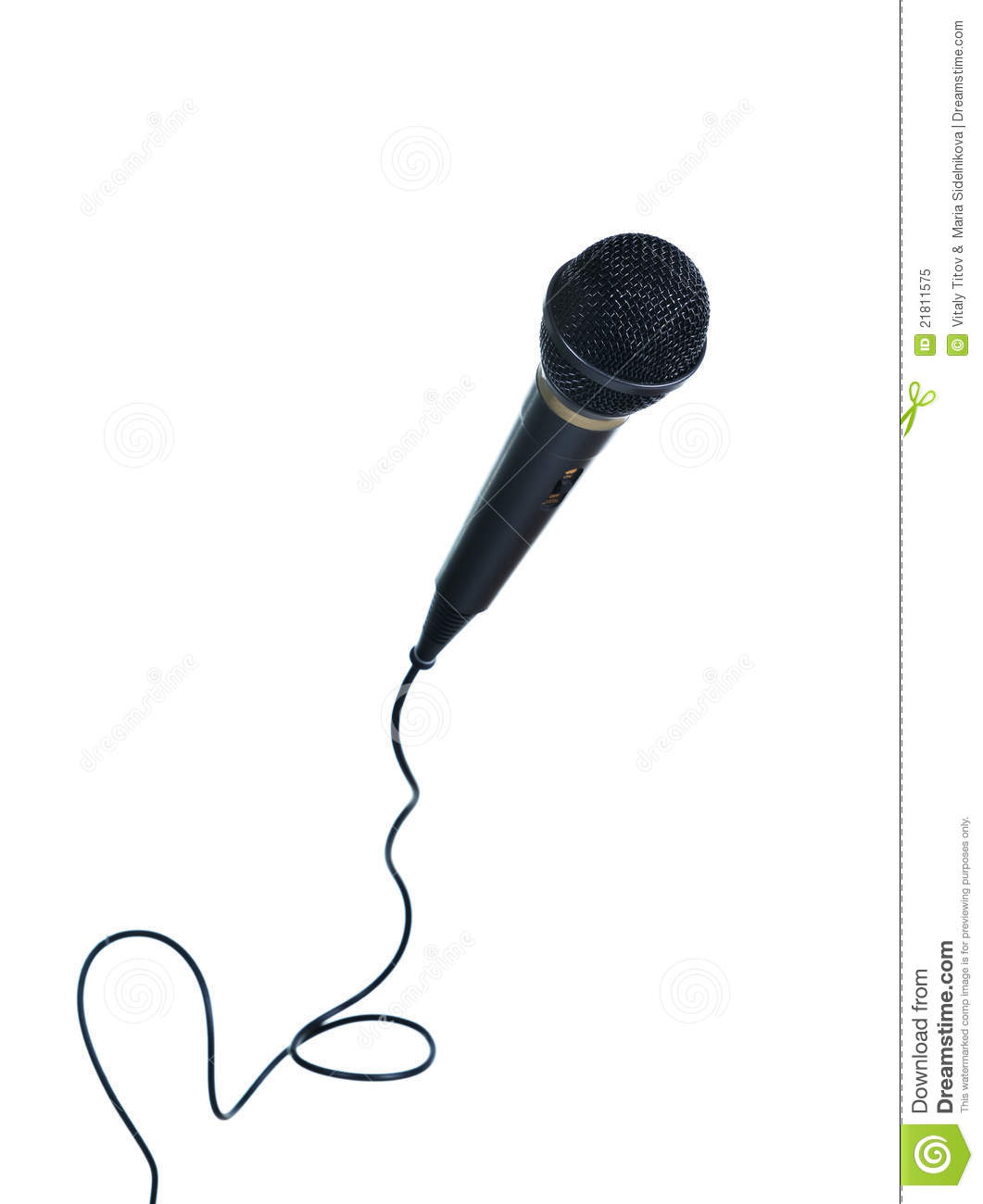 Classical Microphone With Wire Royalty Free Stock Photo