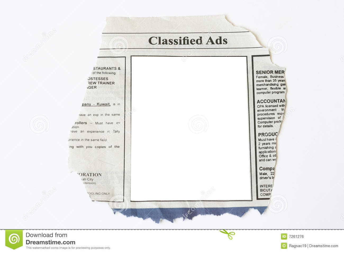 Classified Ads Stock Photo Image Of Help Career Recruit