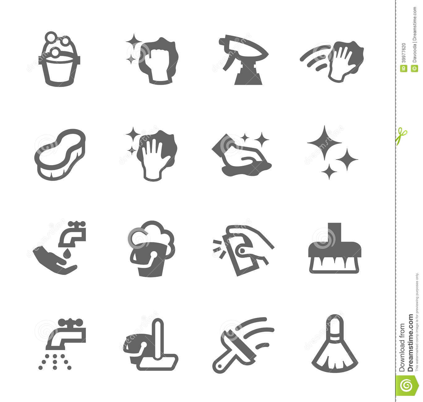 Cleaning Icons Stock Vector Illustration Of Housework