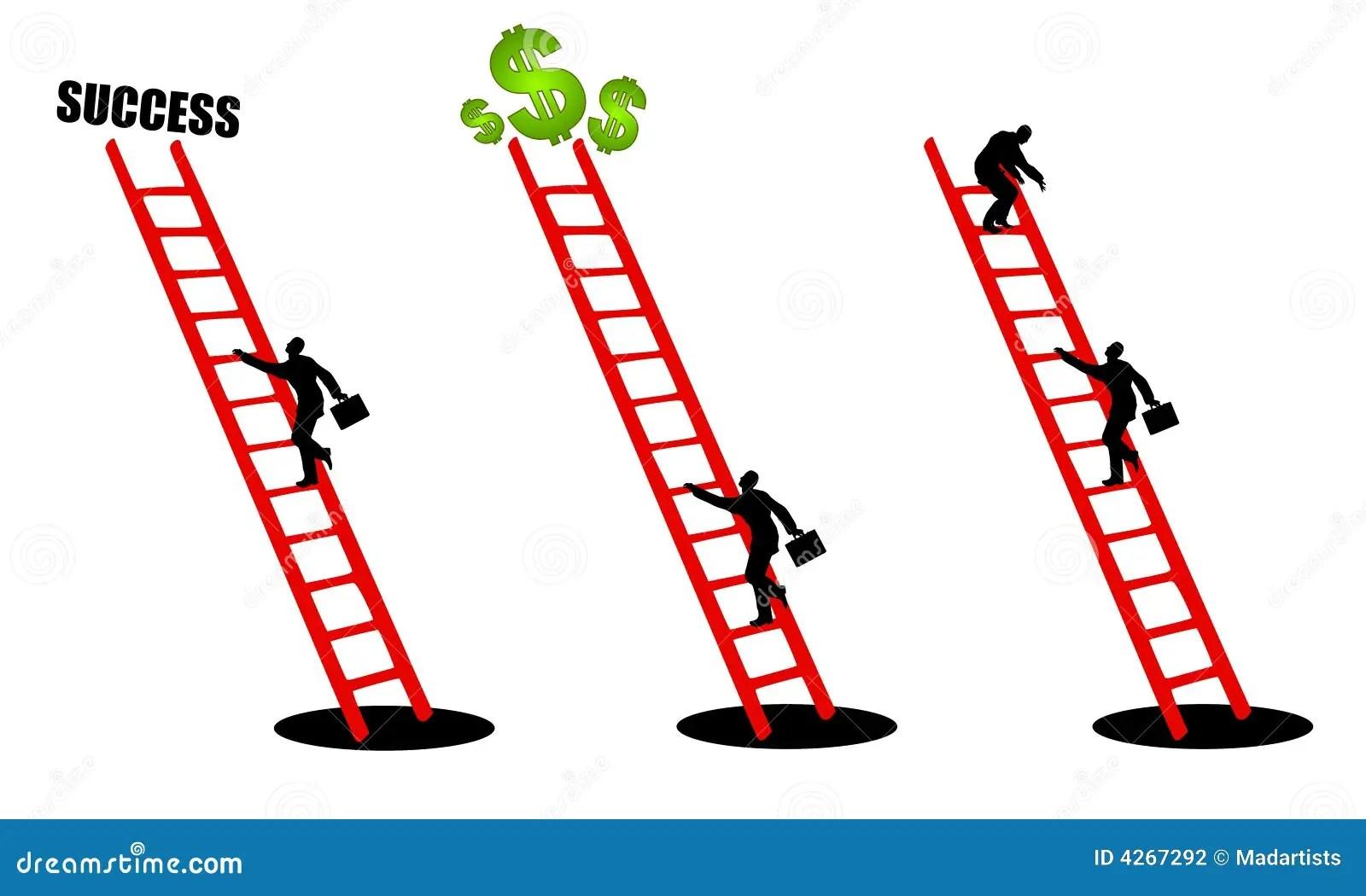 Climbing The Ladder Of Success 2 Stock Illustration