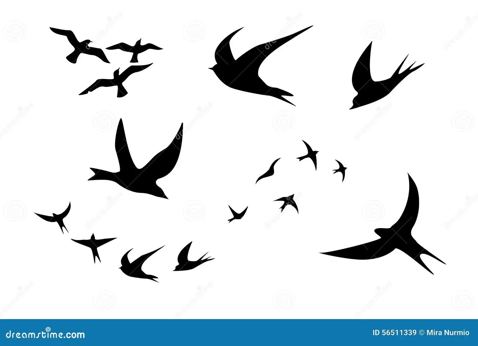 Clipart De Silhouette D Oiseau Illustration Stock