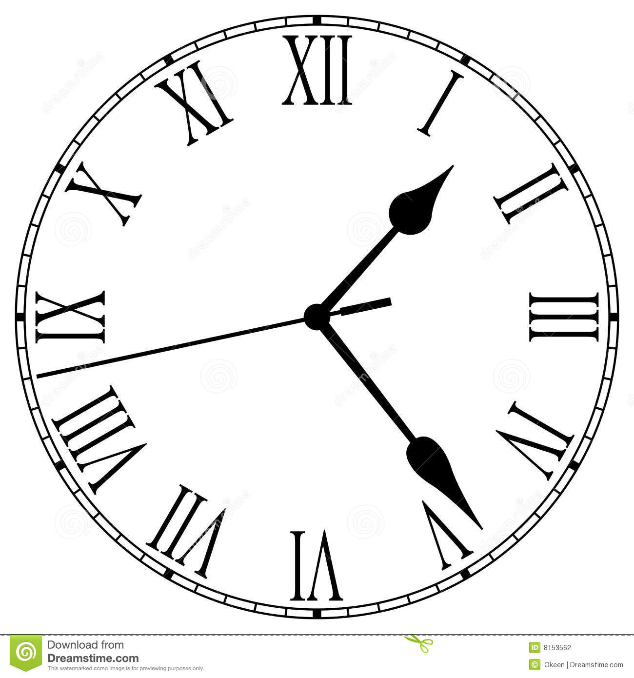 Clock Face Stock Vector Illustration Of Minute Schedule