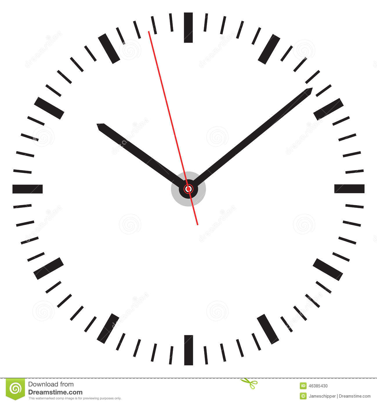 Clock Face Stock Vector Illustration Of Countdown Alarm