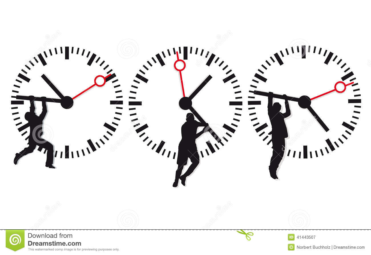 Clock Face And Time Icons Stock Vector Image Of Three