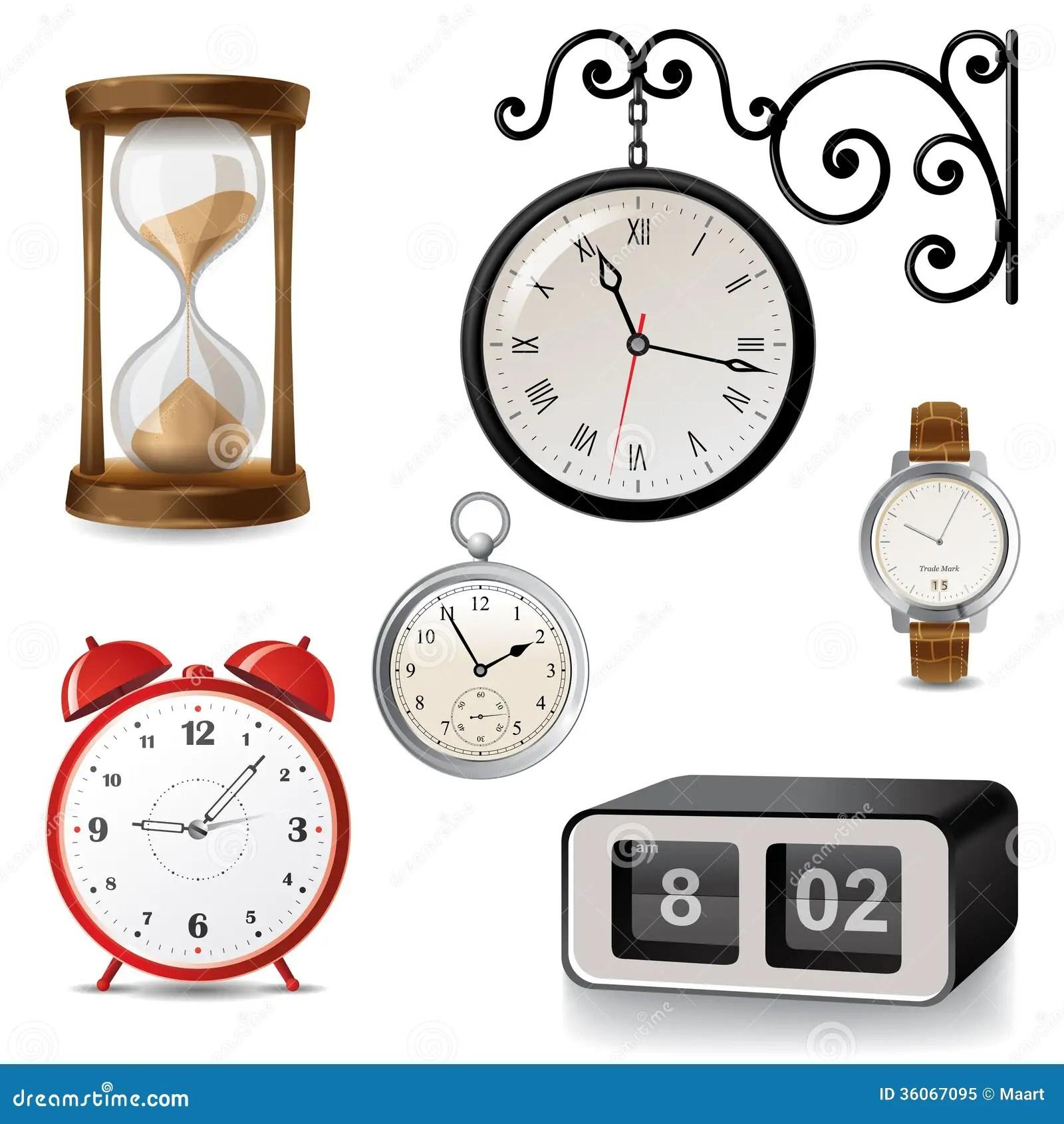 Types Of Clocks Worksheet