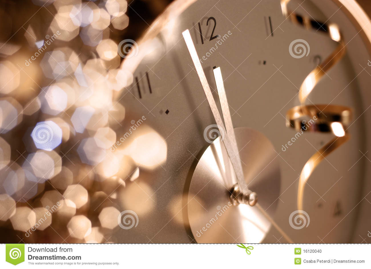 Clock on new year s eve stock photo  Image of close  shine   16120040 Clock on new year s eve