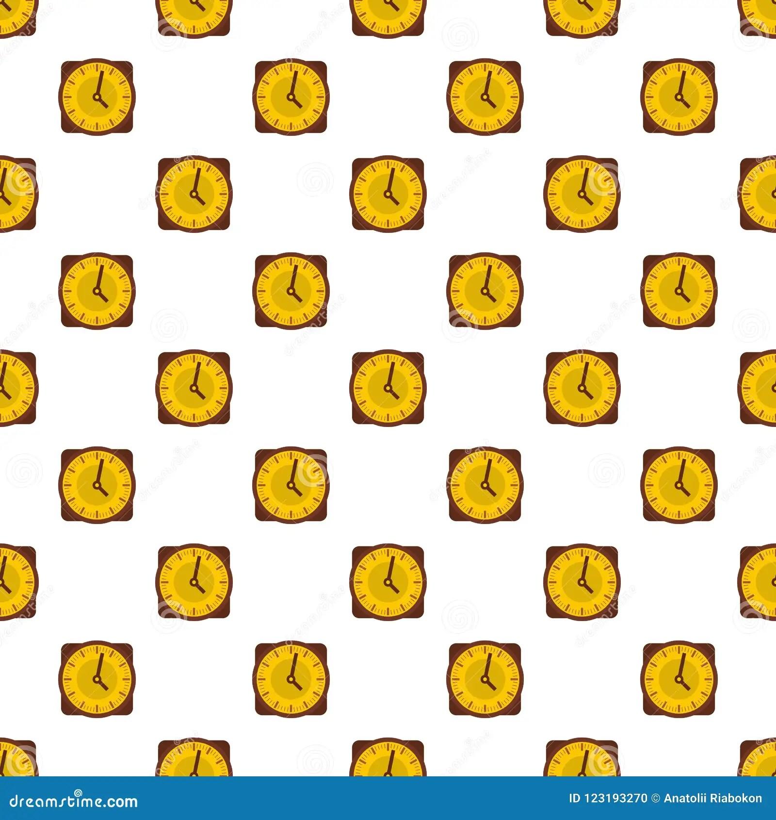Clock Face Stopwatch Pattern Cartoon Vector