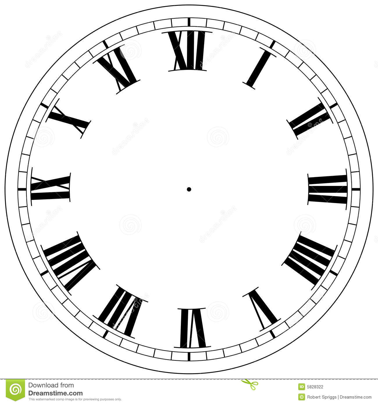 Clock Template Stock Photography