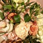 Spring Bouquet Of Mixed Colorful Flowers Flowers Bouquet Including White Peony Orange Rose White Eustoma Beautiful Bright Stock Image Image Of Bunch Camomile 147414979