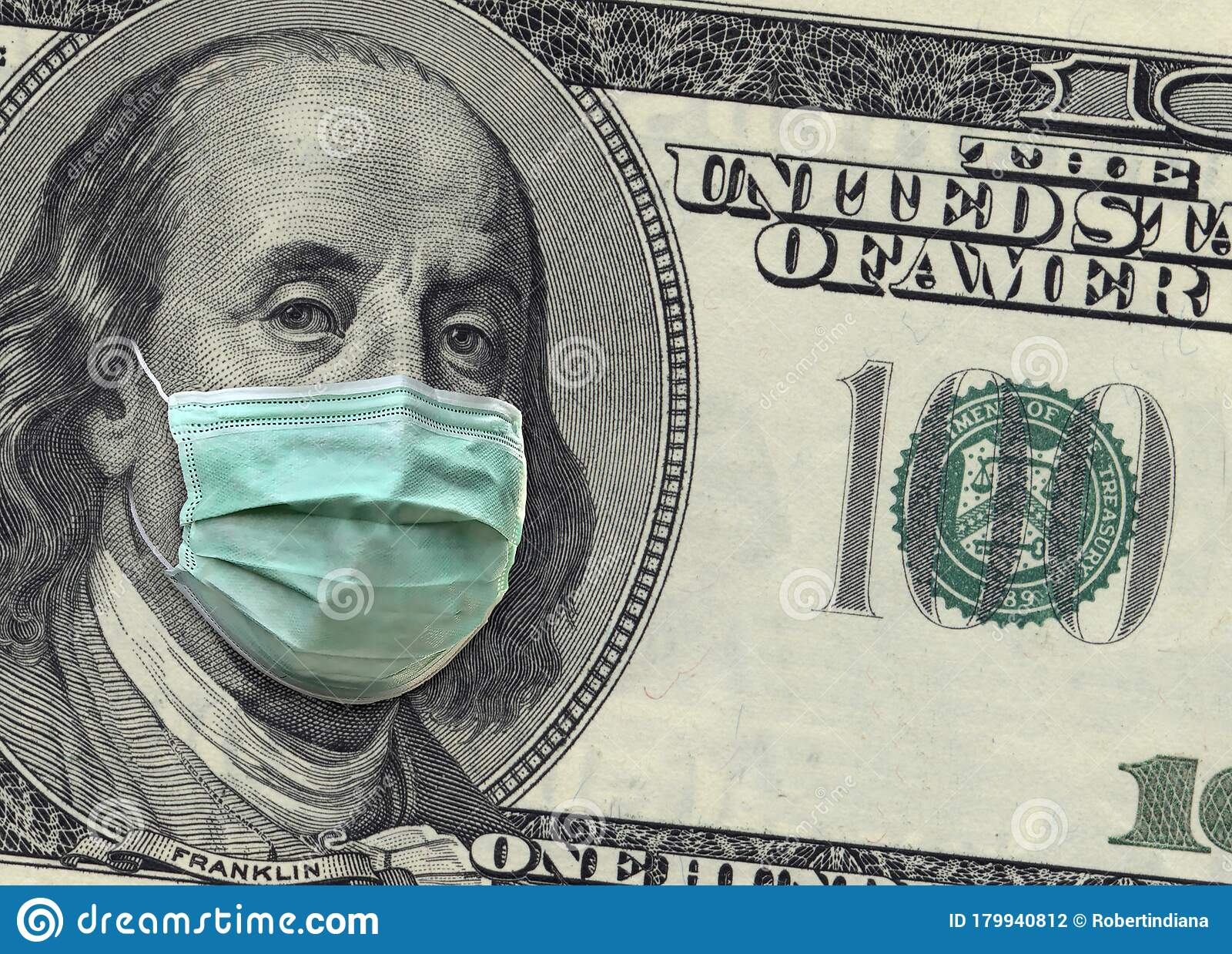 A Close Up Of A 100 Dollar Bill Shows Benjamin Franklin
